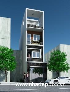 Thiết kế nhà phố 3,5 tầng diện tích 3,6x12m