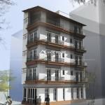 Thiết kế nhà phố 4 tầng 2 mặt tiền