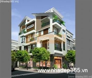 Thiết kế nhà phố 2 mặt tiền 3,5 tầng