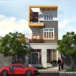 Thiết kế nhà phố 3 tầng diện tích 4,8×14,8m