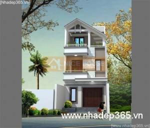 Thiết kế nhà phố 3 tầng 4,7x12,8m