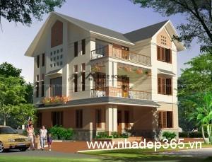 Thiết kế biệt thự vườn 3 tầng 11x13m