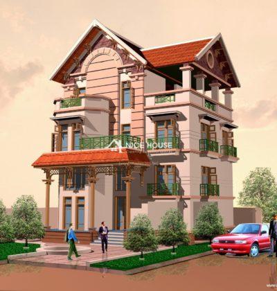 Thiết kế biệt thự 3 tầng 10x14m thân thiện