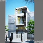Thiết kế nhà phố 3 tầng 5,2×8,8m hiện đại
