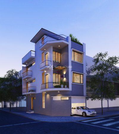 Thiết kế nhà phố 2 mặt tiền diện tích 6x13m