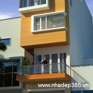 Thiết kế nhà phố 4 tầng 4x14m hiện đại