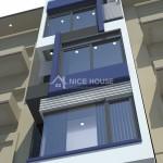 Thiết kế nhà phố 5 tầng diện tích 4x13m