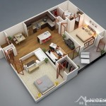 Giải pháp thiết kế nội thất chung cư có 2 phòng ngủ