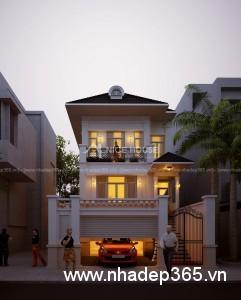 Thiết kế biệt thự phố 2 mặt tiền Quảng Ninh