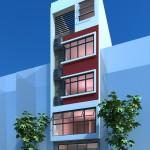 Thiết kế nhà phố 5 tầng diện tích 5x7m