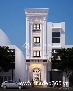 Thiết kế nhà phố 4 tầng tân cổ điển