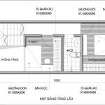 Thiết kế nhà phố 2 tầng 4x10m