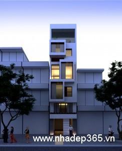 Thiết kế nhà phố 5 tầng 3,3x10,5m nở hậu