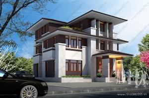 Thiết kế biệt thự 3 tầng hiện đại Vinh - Nghệ An