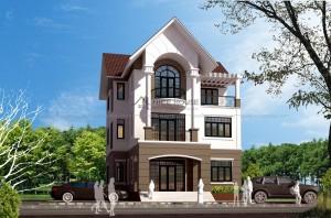 Thiết kế biệt thự 3 tầng diện tích 9,5x14m