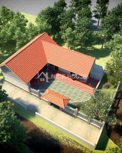 Thiết kế nhà vườn 1 tầng 10x15m