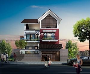 Thiết kế biệt thự 3 tầng hiện đại Nha Trang
