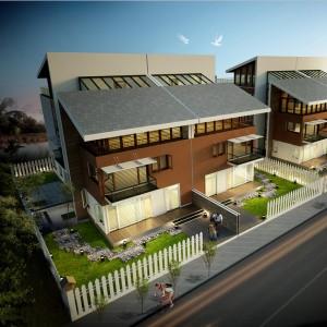 Thiết kế biệt thự 3 tầng song lập Nam An Khánh