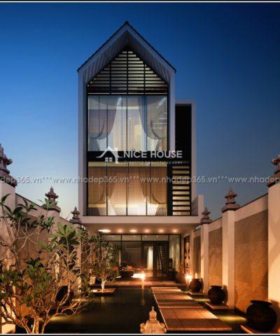 Thiết kế nhà phố 3 tầng 2 mặt tiền Vĩnh Phúc