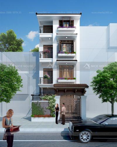 Thiết kế nhà phố liền kề 4 tầng diện tích 6x20m Duy tân - Cầu giấy
